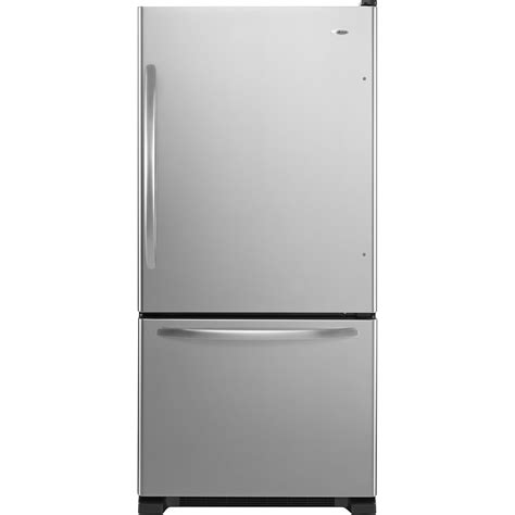 door refrigerator bottom freezer amana abb2224we 21 9 cu ft single door bottom