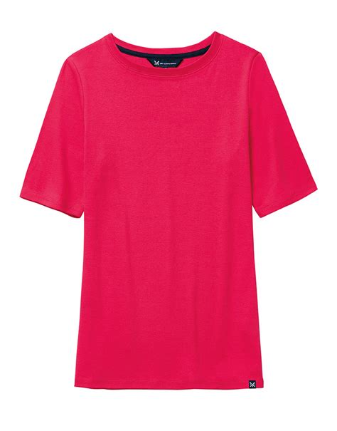boat neck t shirts uk women s boat neck tee in bright claret red from crew clothing