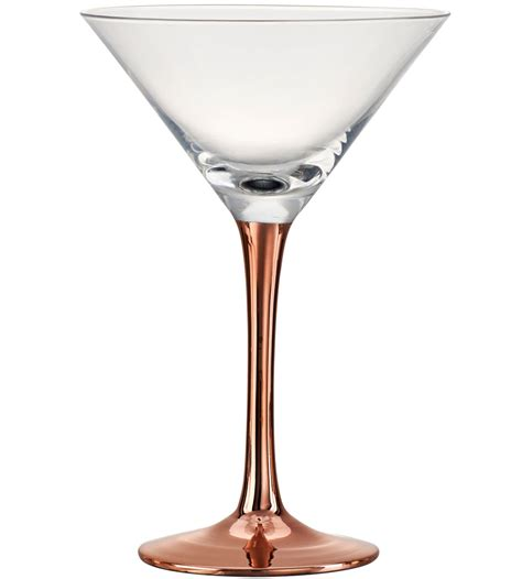 martini glass copper stem martini glass set of 4 in glassware