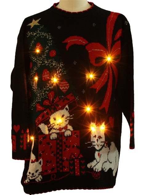 cat sweater with lights cat sweaters