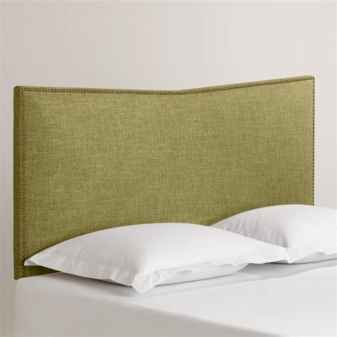 linen headboard linen hart upholstered headboard world market