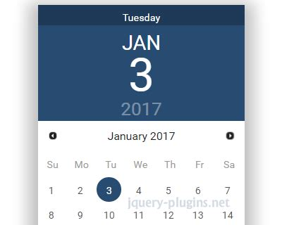 material design calendar js jquery ui datepicker with material design jquery plugins