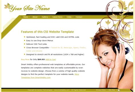 personal web pages templates gold template