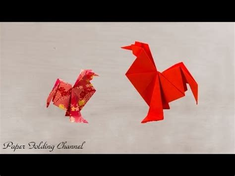 origami rooster tutorial how to make a origami chicken rooster funnycat tv