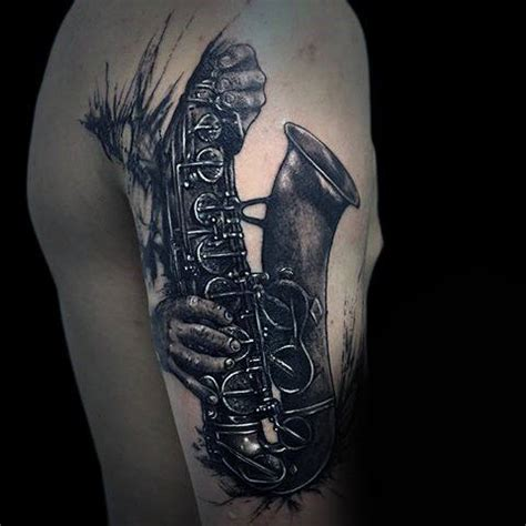 jazz tattoo designs 50 saxophone designs for jazz inspired ink ideas
