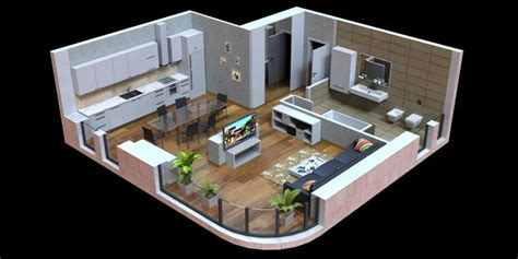 model  poly interior cgtrader