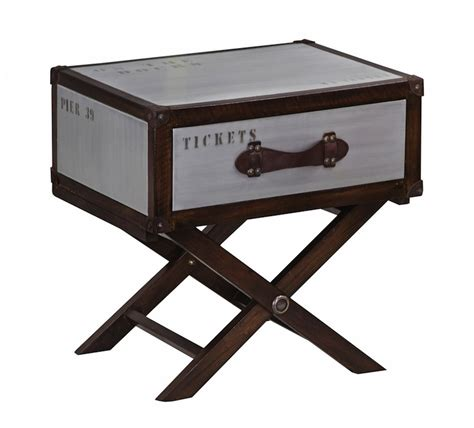 Quest Trunk Style Side Table on Stand