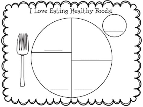 my plate template lesson plans 3rd grade health