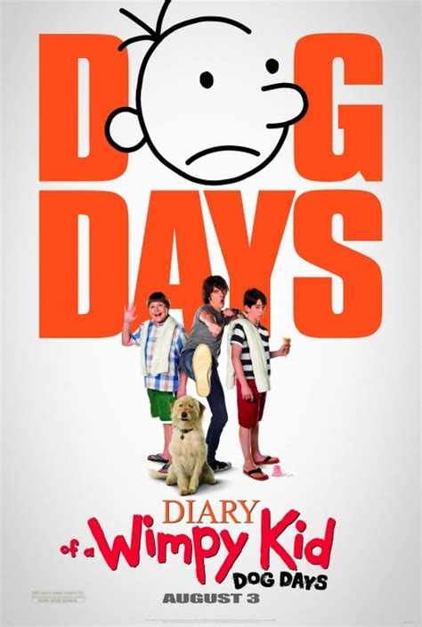 film seri vire diary diary of a wimpy kid dog days movie poster 1 of 9