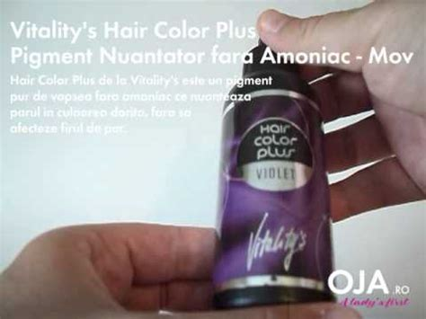 vitality hair colour plus 100ml pigment pur nuantator fara amoniac vitality s hair color