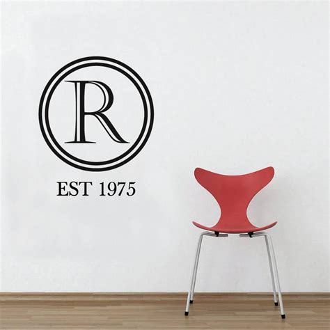 Sticker Letters For Walls monogram letter wall sticker by wallboss wallboss wall