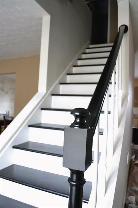 black staircase staircase before and after