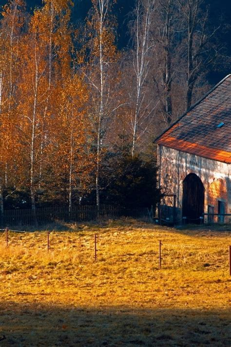Fall Farmhouse Wallpaper Fall Farm Desktop Wallpaper Wallpapersafari