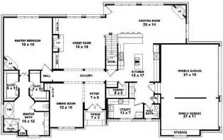4 Bedroom House Plans 1 Story two story 4 bedroom 3 5 bath french style house plan house plans