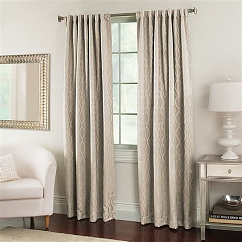 63 inch curtains bed bath beyond buy nova 63 inch window curtain panels in cream from bed