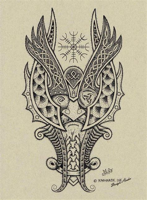 norse tattoo design tattoos celtic norse odin dotwork design by