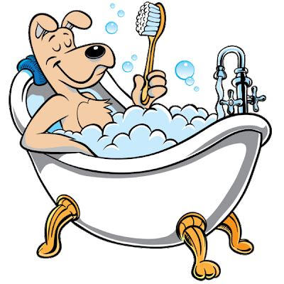 bathtub cartoon dog bath animals homepage