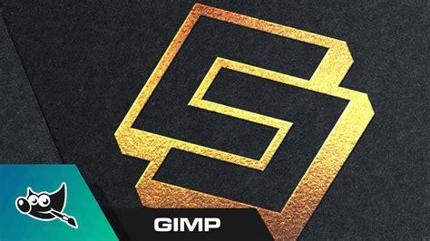 tutorial logo gimp gimp tutorial gold foil logo mockup youtube