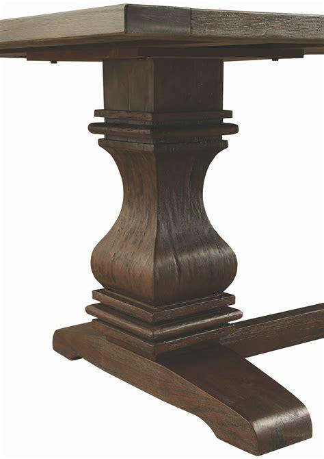 espresso rectangular dining table parkins rustic espresso rectangular dining table from