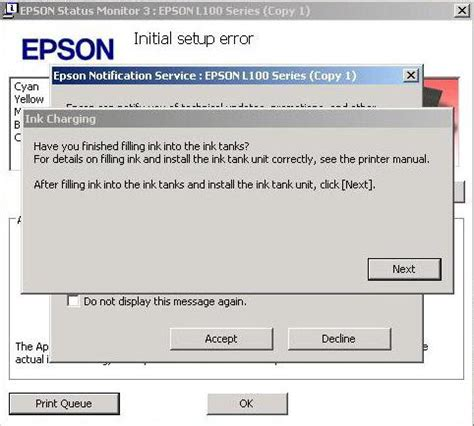 tutorial resetter epson l100 tutorial pengisian tinta instal driver isi id tinta