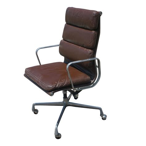 herman miller eames aluminum leather desk chair ebay