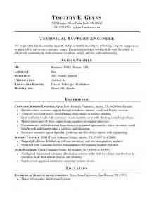 Desktop Support Cover Letter Sle by It Support Engineer Cv Sle 1st Line Support
