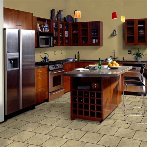 Tile Floors In Kitchen Brick Kitchen Flooring Feel The Home