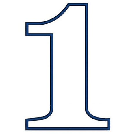 number pattern pinterest number 1 applique 1st birthday machine embroidery design