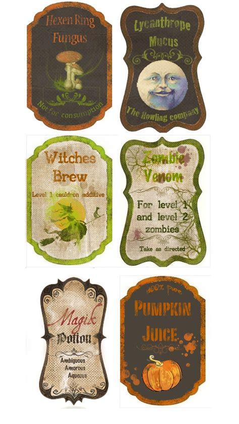 printable halloween labels for bottles custom potion labels halloween pinterest
