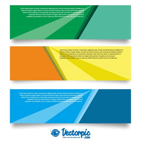design background x banner set of banner design background free vector