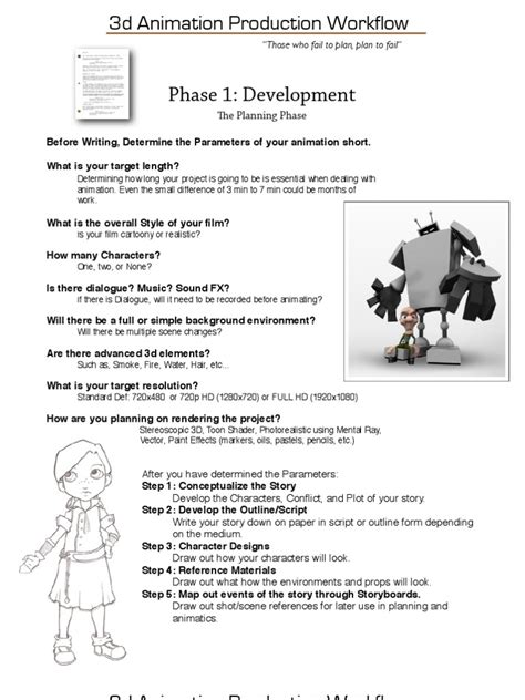 animation production workflow 3d animation production workflow docshare tips