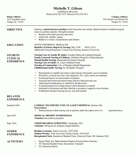 New Grad Rn Resume With No Experience by New Grad Rn Resume No Experience Https Momogicars