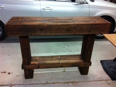 diy foyer table   pallet wood pallet pinterest