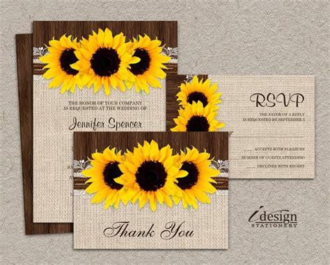 sunflower wedding invitations kits diy printable sunflower wedding invitation sets rustic