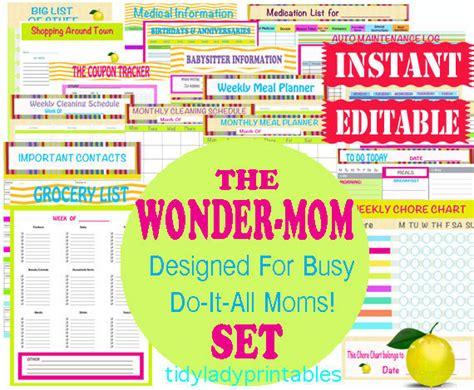 printable mom organizer mom planner printable organizer sheets by tidyladyprintables
