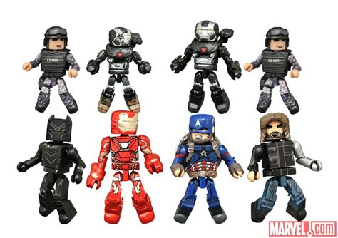 first look at captain america civil war minimates