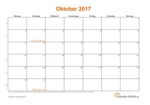 Kalender Oktober 2018 Oktober 2017 Kalender Mit Feiertagen