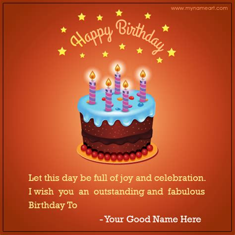 Write Name On Birthday Card Write Name On Happy Birthday Cake Cards Wishes Greeting Card
