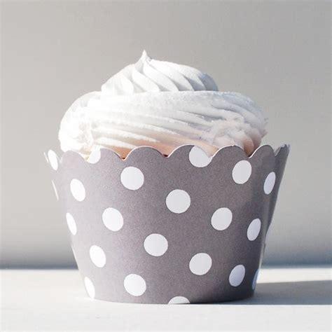 Cup Cake Paper Cupcake Polkadot Cake Polkadot grey polka dot cupcake wrappers how wedding shop