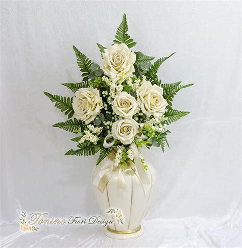 vaso per fiori vaso porta fiori in ceramica completo di in velluto m