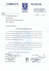 letter of appreciation to principal just b cause