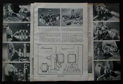 oscillating steam engine diagram oscillating steam engine w gear 1941 how to build