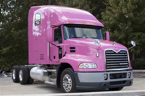mack truck mack trucks showcases its support for breast cancer