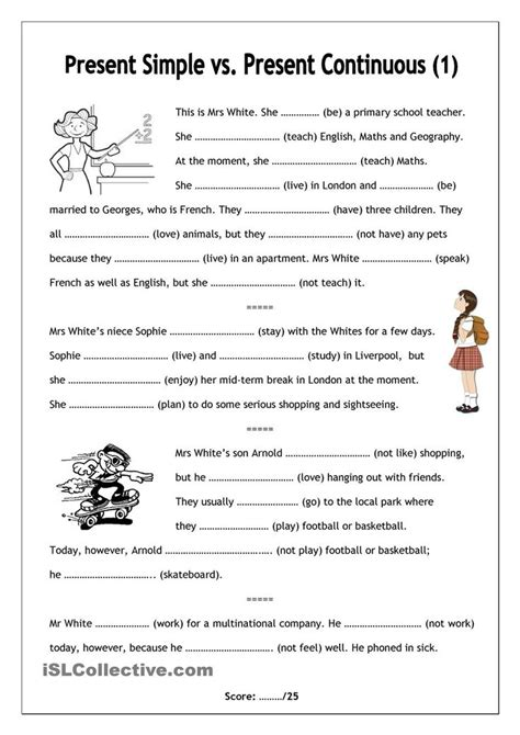 Esl Worksheets For Adults by No Frills Worksheet For All Ages Present Simple Vs