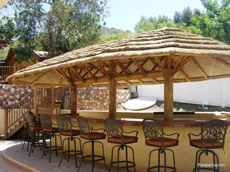 9ft Palapa Umbrella Kit BBQ Island Tiki Thatch Hut Bar   eBay