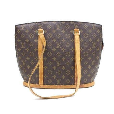 louis vuitton babylone monogram zippered tote  brown