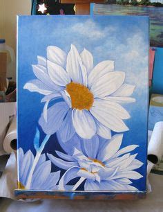 acrylic paint lewis daisies more more and acrylic paintings on
