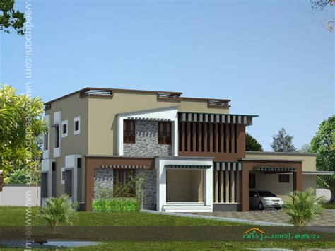Home Design Easy On The Eye Contemporary House Designs In Low Cost Modern House Plans In Kerala