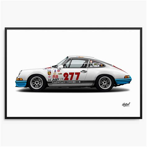 magnus walker 277 official print ruf ctr yellow bird 911 by petrolicious
