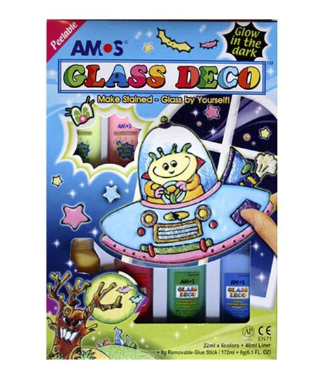 Amos Deco Set 6 Dus amos glass deco glow in the set 6 colours buy
